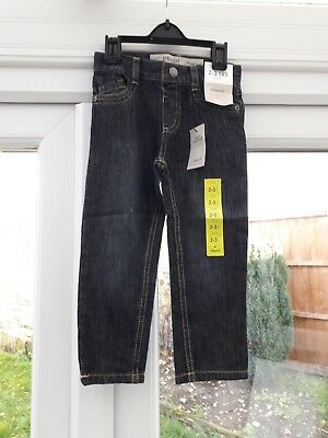 Boys Denim Blue Straight Leg Jeans - Size 2-3 Years - New With Tags