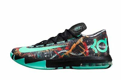 finest selection b98a0 38abd KD VI All Star NOLA Illusion Gumbo Green AS Glow in Dark 647781-930 sz