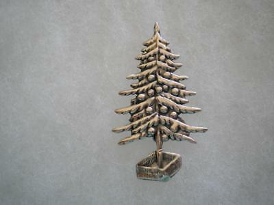 Vintage Christmas sterling silver tree