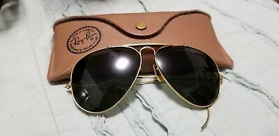 Vintage Ray Ban Sunglasses With Case Aviator