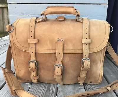 Saddleback Leather Co. XL Tobacco Classic Briefcase * 2007 1st Gen. Suede Lined
