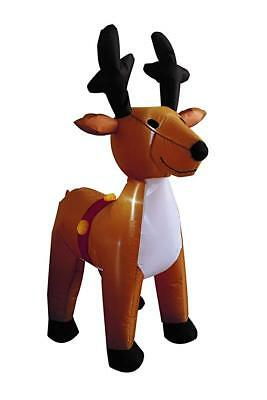 "Christmas 42"" In Self Inflating Illuminated Blow Up Yard Decorations Reindeer"