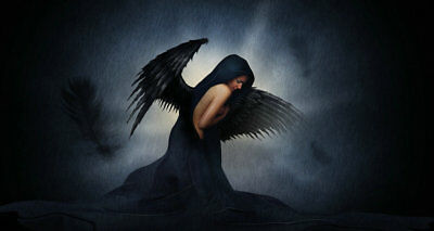Home decoration art wall Dark Angel Oil painting Picture Printed on canvas