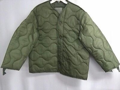 Genuine Usgi Cold Weather Coat M-65 M65 Field Jacket Liner Large Excellent