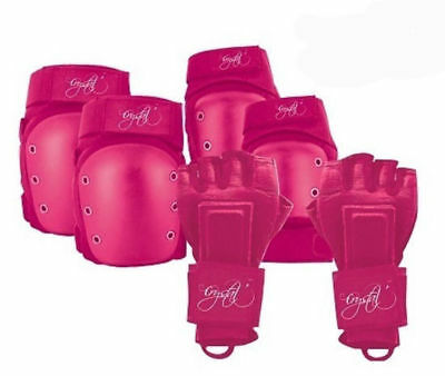 Crystal 6 Piece Protector Pack for Bike Bicycle Skate Scooter Pink Size M Adult