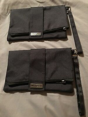 Lot of 2 Victor Rolf Airline Toiletry Makeup Cosmetic Travel Bag Pouch
