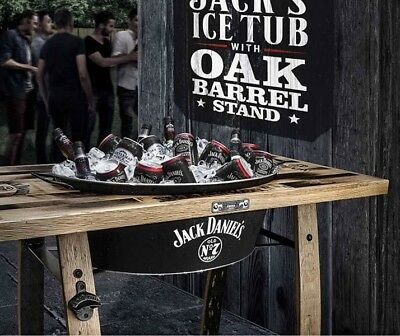 Jack Daniel's Ice Tub With Oak Barrell Stand, Brand New, Never Used