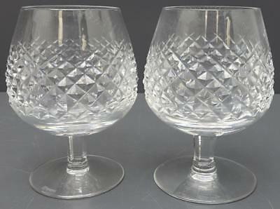 Lot 2 Waterford Crystal ALANA Brandy Snifter Glass Glasses Pair