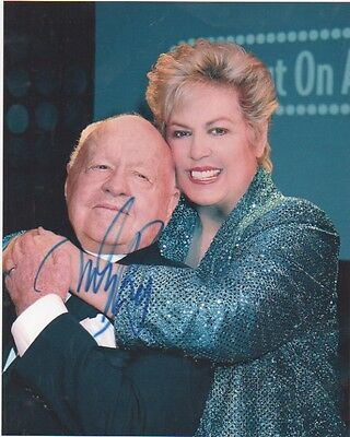 MICKEY ROONEY Signed In Person 10x8 Photo BREAKFAST AT TIFFANYS COA