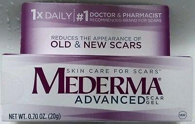 Mederma Advanced Scar Gel Reduces Appearance of Old & New Scars 0.70 oz 20 g NEW