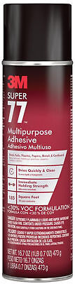 3M Multi-Purpose Spray Adhesive Super 77 16.75 Fl. Oz. Quick Dry DIY Supply