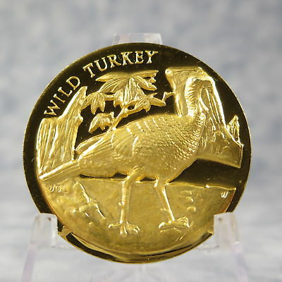 Americas Natural Legacy WILD TURKEY Gold on Sterling Medal 35 grams