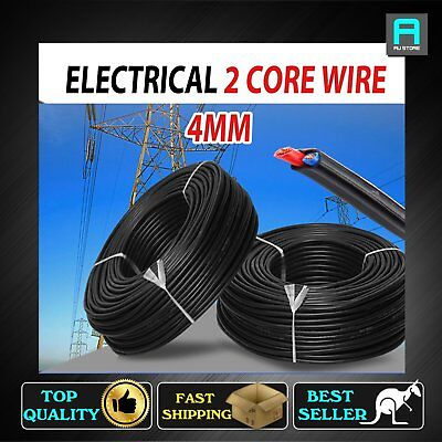 2 Core Electrical Cable Twin Core 4mm Wire 12 24V Copper Sheath Auto Solar Power