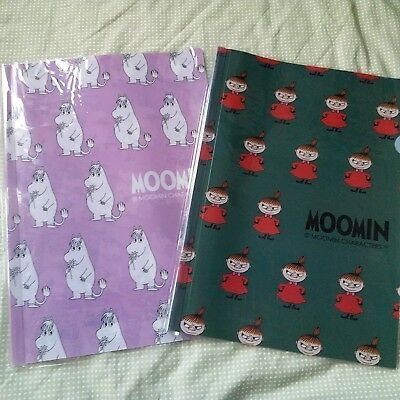 MOOMIN VALLEY Little My Snork Maiden A4 Plastic Folder 2 Pieces Set