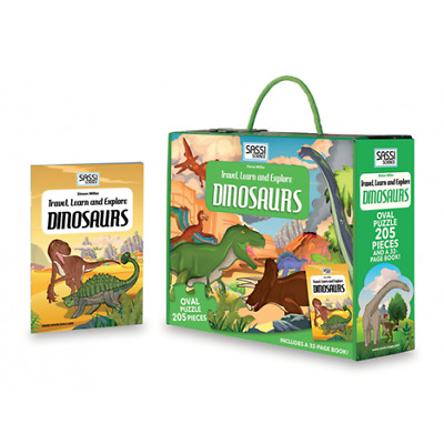 Sassi Junior Travel Learn explore Dinosaurs Puzzle Jigsaw Book 205 pieces Dino