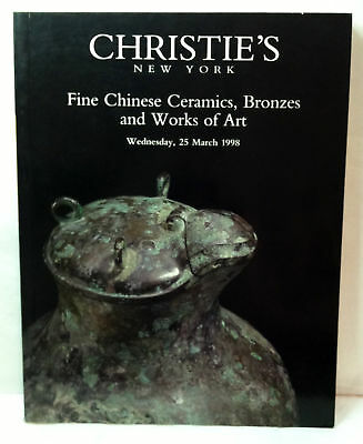Christie's Fine Chinese Ceramics Bronzes Works Of Art 1998 Ny Auction Catalogue