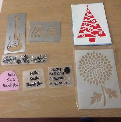 Cardmaking Craft Stamps And Cutters Bulk Lot Scrap booking