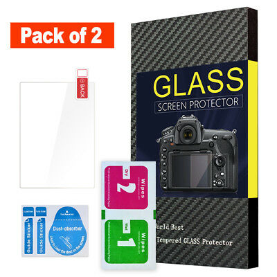 (Pack of 2) LCD Screen Protector Tempered Glass w/ Top LCD for Sony Alpha a99 II