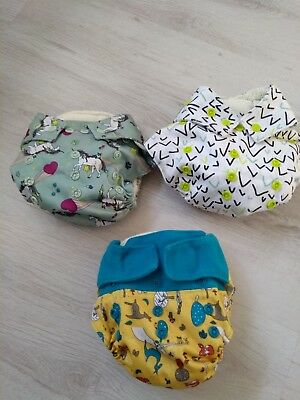 3 Grovia Reusable Nappies. USED.