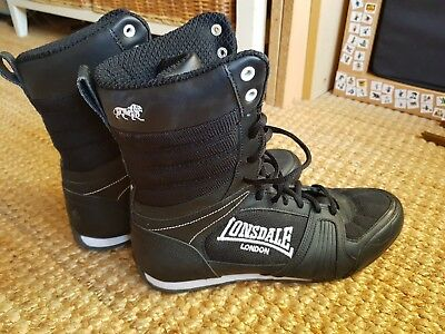 Lonsdale Boxing Boots black Size 8