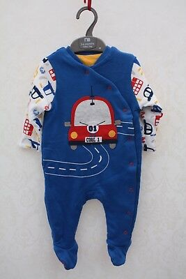 MOTHERCARE, Baby Padded 2.5 Tog All In One Sleep Suit, Age 3-6 Months, 8kg, NEW