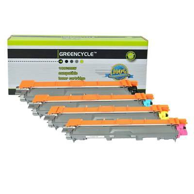 4 PK GREENCYCLE Compatible Toner Cartridges For Brother TN221/225 (B,C,Y,M)
