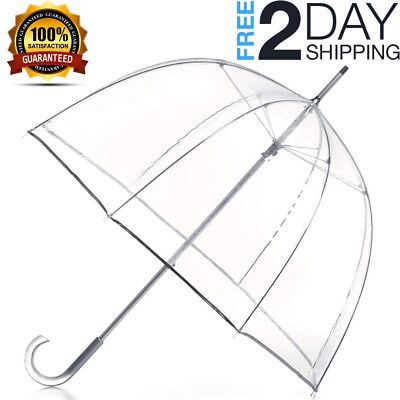 totes Signature Clear Bubble Umbrella NEW
