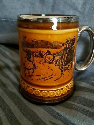 Vintage Ridgeways Tankard Mug. Coaching Days & Ways