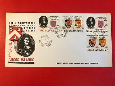 Turks & Caicos 1970 Fdc Letters Patent Monck Duke Of Albemarle