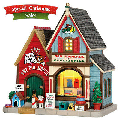 Lemax Village Collection Christmas Village Building The Dog House Porcelain