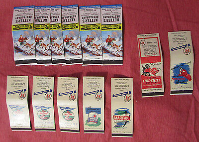 Matchbook Covers 6-different TEXACO Gas Oil Hunting Images Lot of 13 Vintage