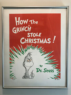 Dr. Seuss How the Grinch Stole Christmas Lithograph Art Limited Edition Numbered