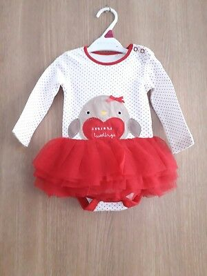Baby Girls Christmas Tutu  Playsuit Age 3/6 Months