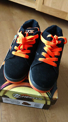 Heelys Black & Bright Orange Size 5 In Box
