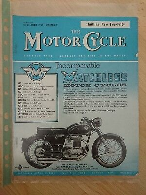 The MotorCycle Magazine 10th December 1959 Norton BSA  Matchless AJS Triumph
