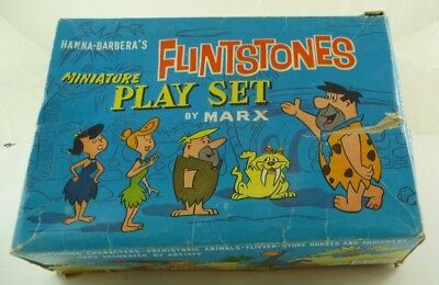 HANNA- BARBERA´S Flintstones Miniature Play Set by MARX- Super selten