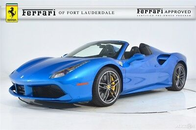 2018 Ferrari 488 Spider Certified CPO pecial Paint Carbon Fiber LED AFS Lifter Electric Shields Sensors Camera Forged