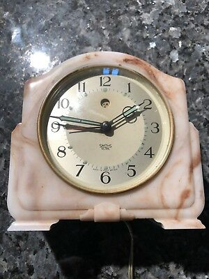 Vintage Alarm Clock. Smiths Sectric Electric Clock. Art Deco 1940s Bakelite GWO.