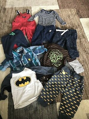 Boys Winter Mixed Clothing Lot Of 9 Size 6/9 Mos Carter's OshKosh Gymboree Etc