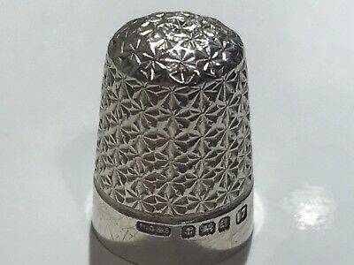 Solid Silver Thimble Stunning Not Scrap Lot 515