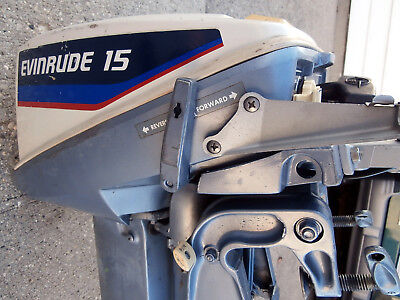 Evinrude 15 Hp >> 1975 Evinrude 15 Hp Model 15504 Outboard Motor Engine Gas Tank Owner S Manual