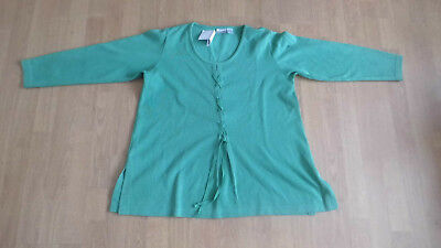 b3c71a23551b1 pull vert femme 3 SUISSES taille 42 44 manches longues polyestter coton
