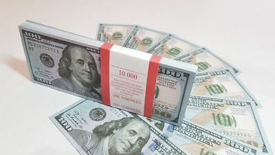 NEW $100 DOLLARS SOUVENIR BILLS 10packs for Prank, Games, Movies&Videos and Gift