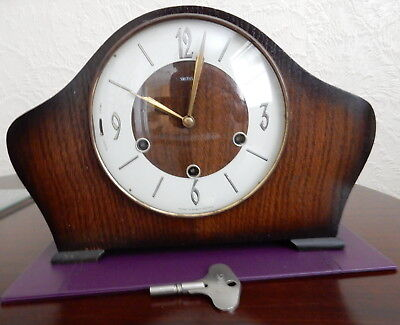 Antique Vintage Smith Westminster Chimes Mantle Clock