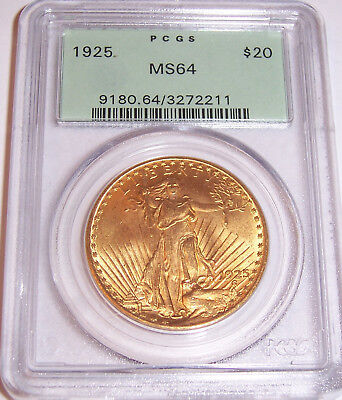 1925 $20 St Gaudens PCGS MS64 OGH Uncirculated Philadelphia Gold Double Eagle!!!