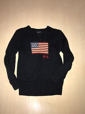 ralph lauren Polo Boys American Flag Knit Sweater Size 7