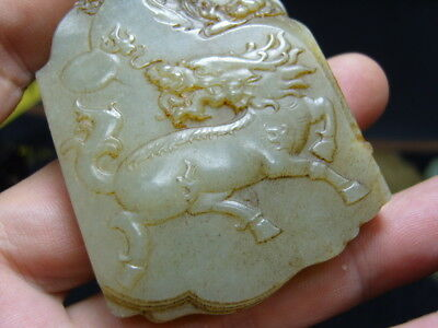FINELY CARVED  CHINESE Jade Statue/ Pendant   - See Video        14