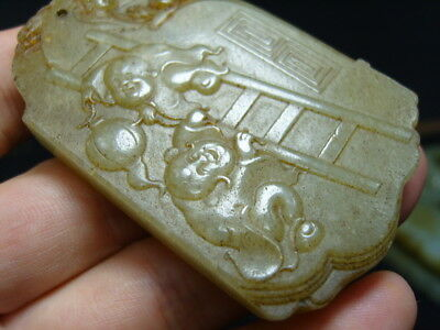 FINELY CARVED  CHINESE Jade Statue/ Pendant   - See Video        15