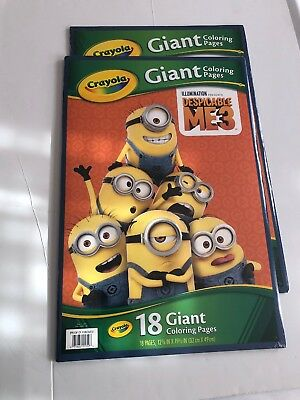 Crayola Giant Colouring Pages, Despicable Me, 18 Pages. Shipping Included X2
