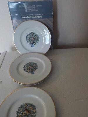 Avon Partridge in a Pear Tree dessert, salad, Lunch plates set of 4 Christmas